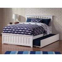 Pemberly Row Full Trundle Platform Bed in White