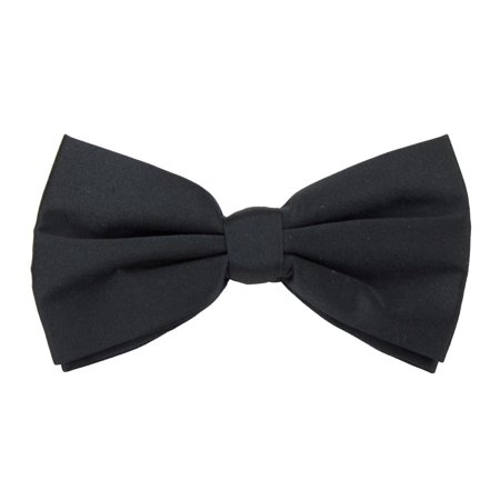 Formal Black Casino and Poker Dealer Clip On Bow Tie (Bow Tie Clips)