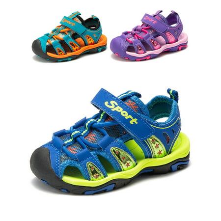 Boys Girls Sport Water Sandals Closed-Toe Outdoor(Toddler/Little Kid/Big Kid)