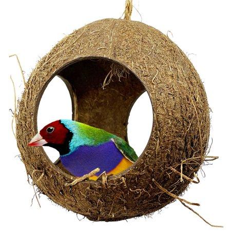 2114 Three Hole Coco Nest Hut Bird Toy