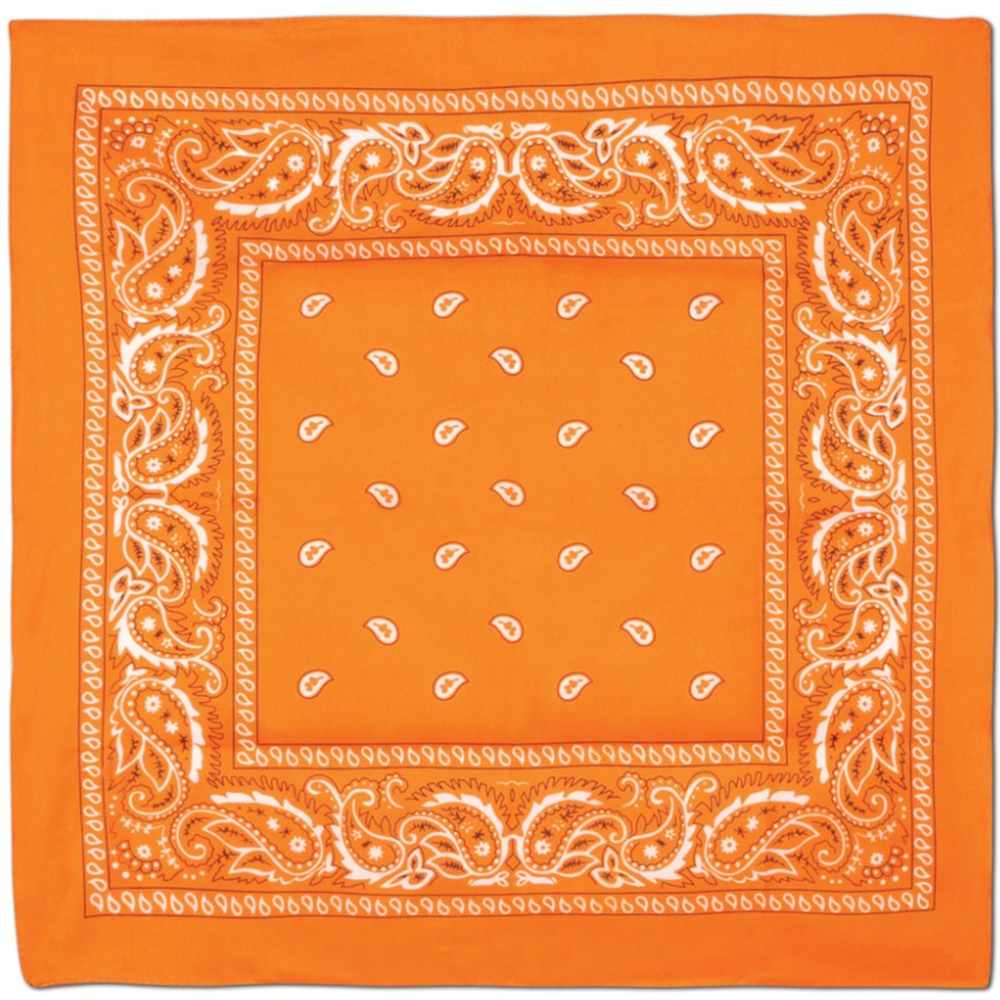 Orange Bandana Party Accessory (1 count)