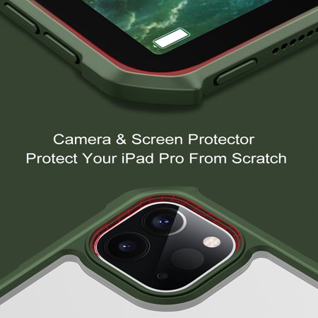 Cribun Ultra Slim Thin Anti-Scratch TPU Rubber Soft Skin Silicone Premium Protective Case Cover for ipad pro 11inch 2020(black) - image 6 of 8