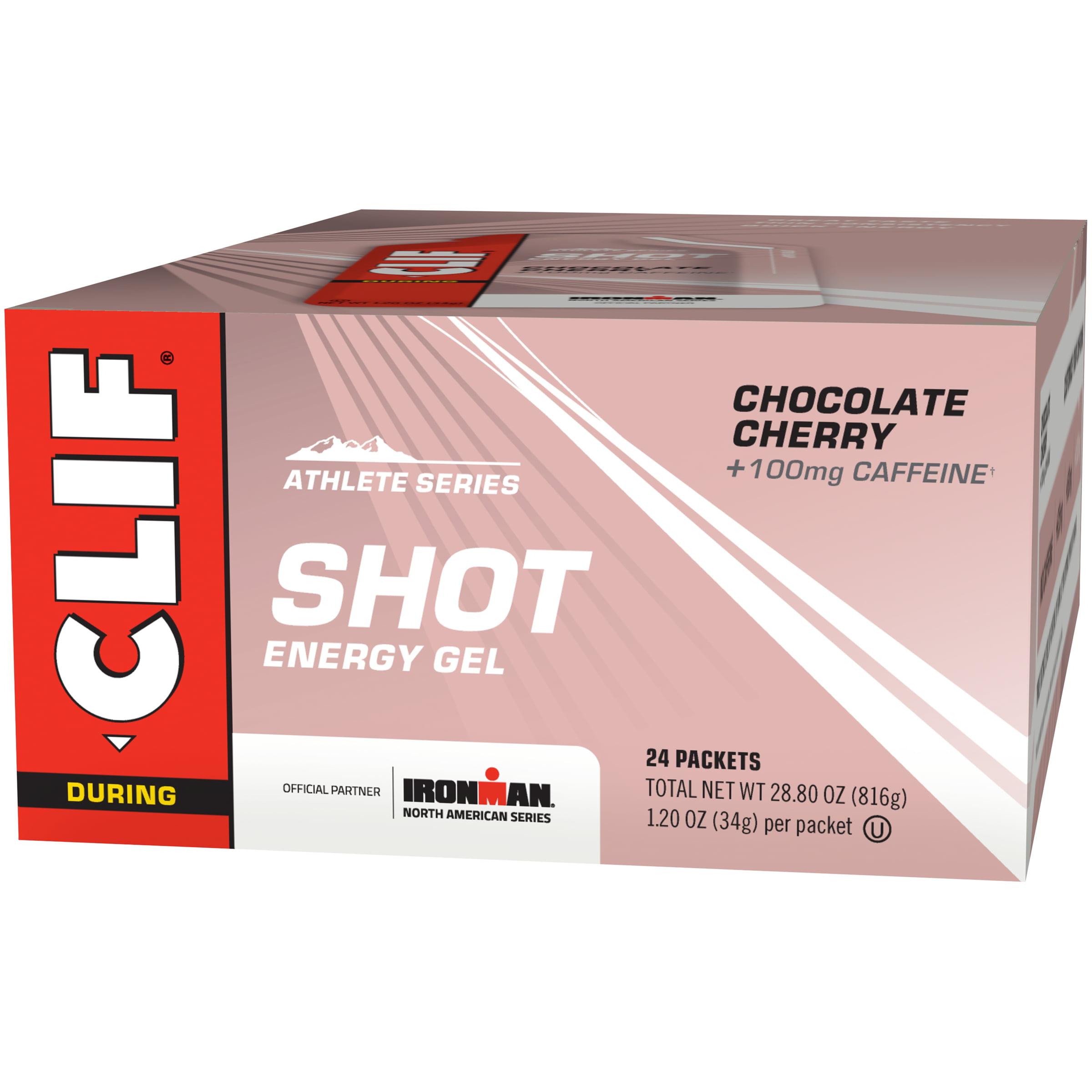 Clif Shot Energy Gel, Chocolate Cherry, 1.2 Fl Oz, 24 Ct