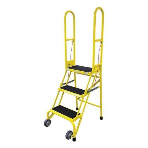 Cotterman SAS3A2E10C2P6 Rolling Ladder,Steel,60In. H.,Yel...