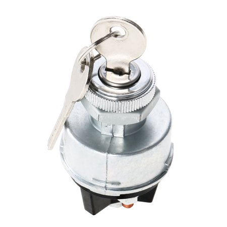 Universal Ignition Switch (Ignition Switch with 2 Keys Universal for Car Tractor)