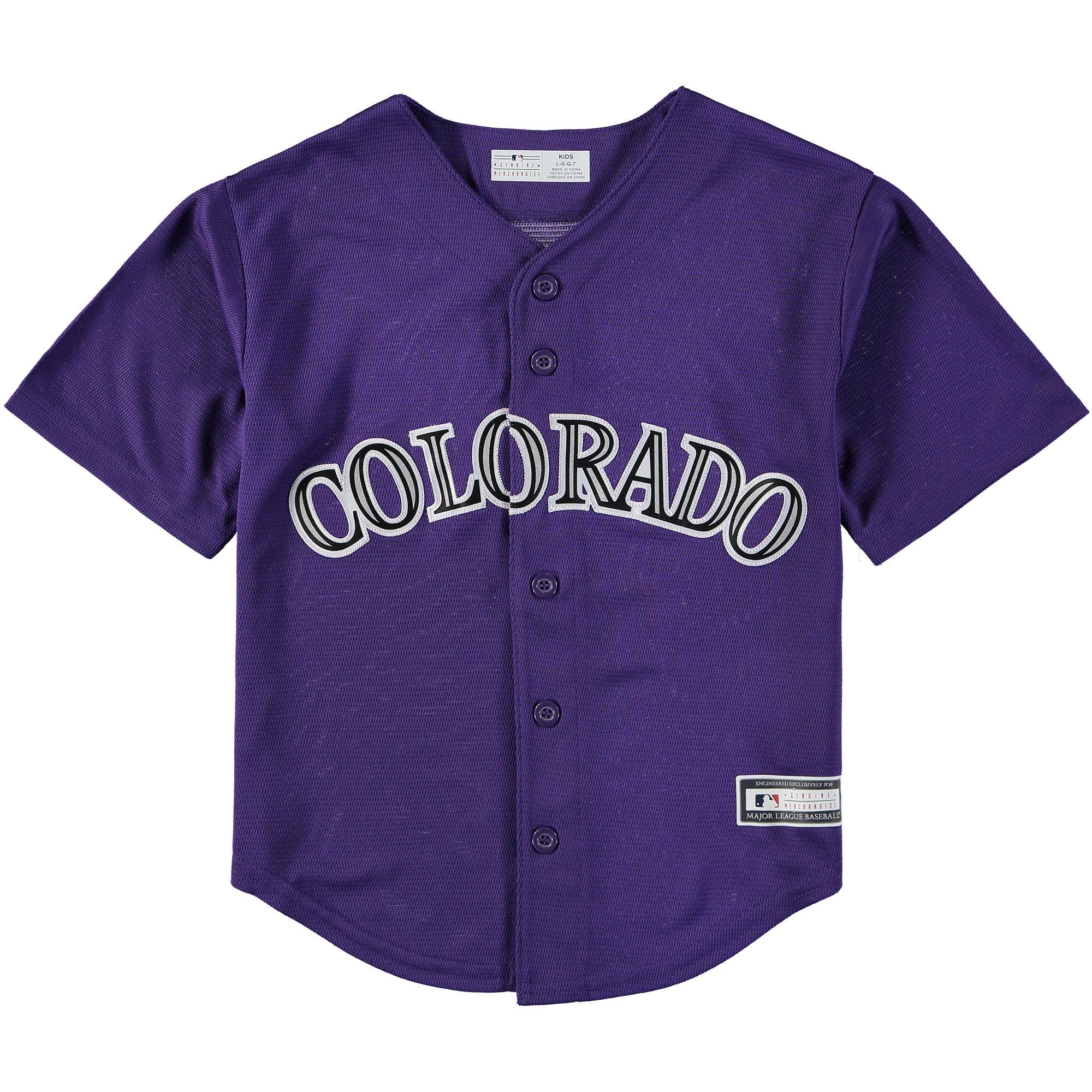 Colorado Rockies Preschool Replica Team Jersey - Purple