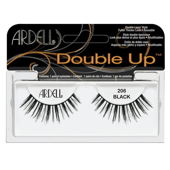 9a217b487bb Ardell Double Up False Eyelashes, Black, 206, 1 Pair - Walmart.com