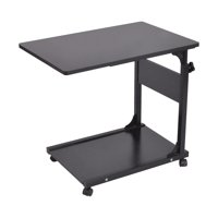 Outtop Side Table Adjustable Laptop Stand Portable Cart Tray Side Table Studying Desk