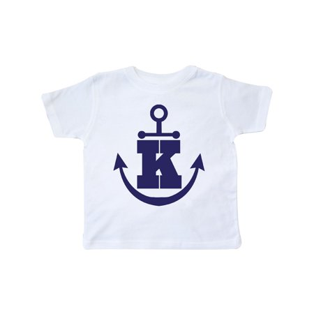 Monogram K Nautical Anchor Toddler T-Shirt Monogrammed Childrens Clothing