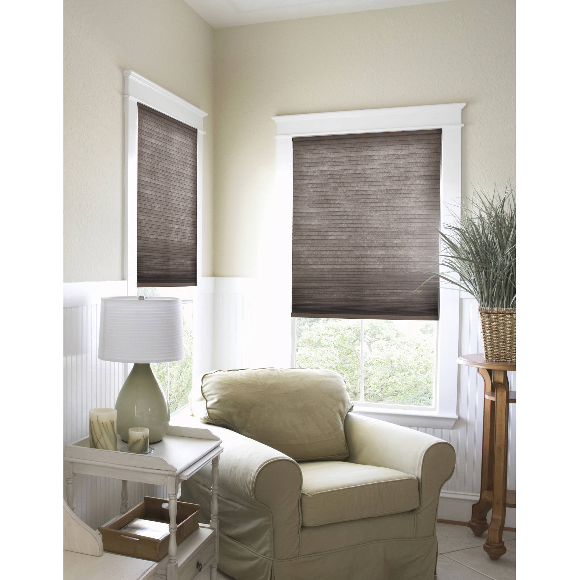 "Richfield Studio Cordless Light-Filtering Cellular Shade, Coffee Bean, 64"" Length"