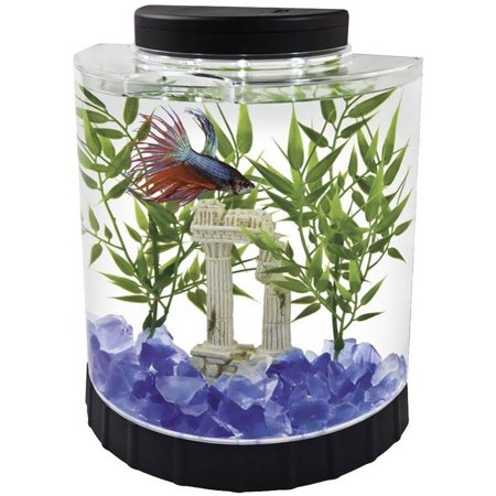 Tetra led half moon aquarium for Betta fish tanks walmart