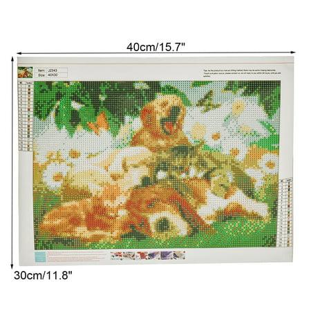 Uvakeng 5D DIY Diamond Painting Embroidery Animal Cross Stitch Home Decor Cross-Stitch