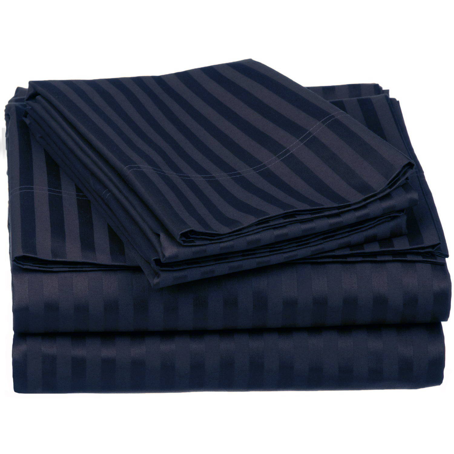 Superior 650 Thread Count 100% Premium Quality Cotton Stripe Sheet Set