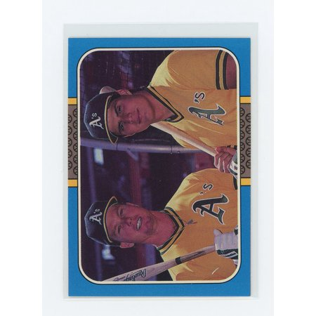 1986 Jose Canseco Rookie Card - 1987 Donruss Highlights #40 Mark McGwire Jose Canseco Dual A's Rookie Card