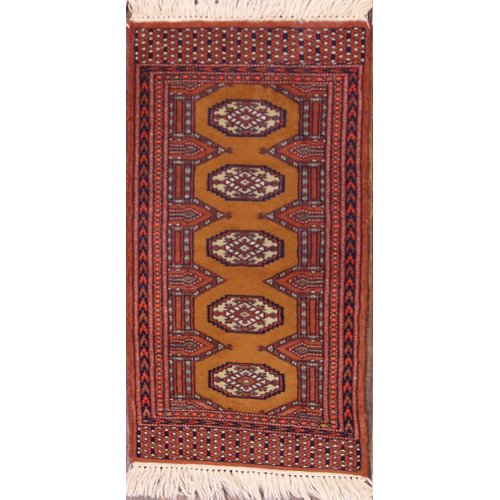 Bloomsbury Market River Traditional Bokhara Pakistan Oriental Hand-Knotted Wool Red/Brown Area Rug