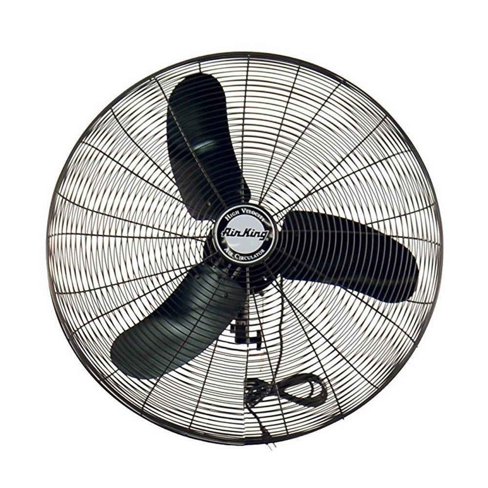 Air King Industrial Grade 3 Speed 30 Inch 1/3 HP Oscillating Wall Mount Fan
