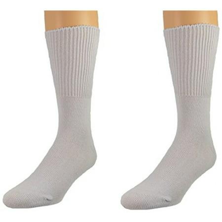 Sierra Socks Health Diabetic Wide Calf Cotton Crew Women's 2 Pair Pack Womens Calf Sock