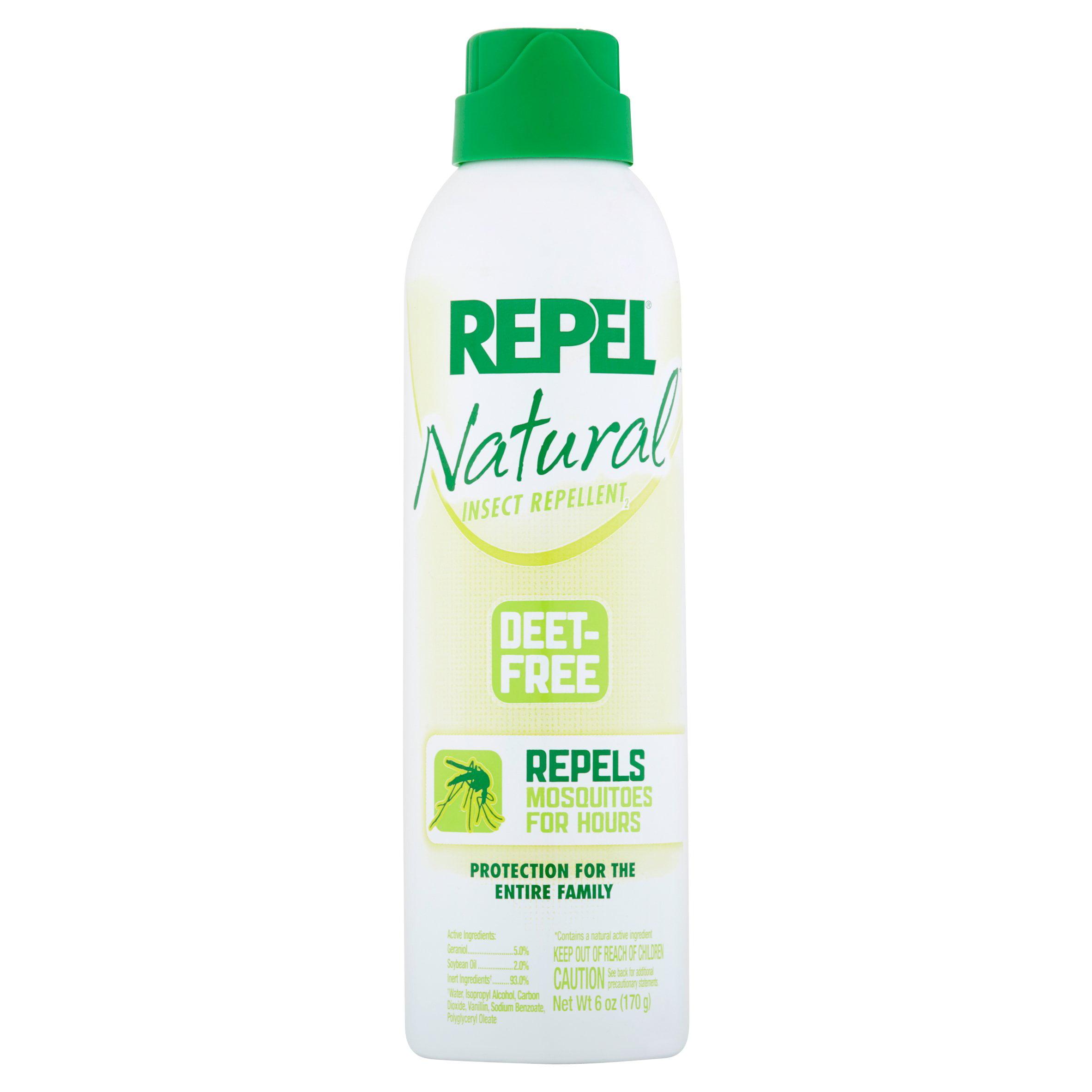 Repel Natural Mosquito Repellent Aerosol Spray 6 Ounce Walmart