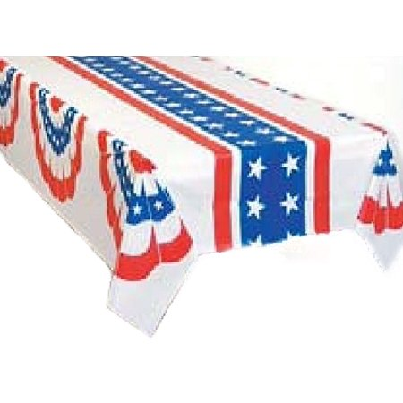 Fan Drape Plastic Tablecloth 54