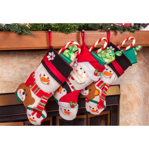 Imperial Home 3 Piece 18'' Cute Santa's Toys Stocking Set