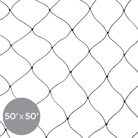 Best Choice Products 50x50ft Multi-Filament Protective Square Mesh Bird Netting for Birds, Poultry, Game, Garden, Yard, and Pens - -