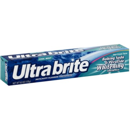 Ultra Brite bicarbonate de soude et Peroxyde Dentifrice blanchissant, Cool Mint 6 oz (Pack of 6)