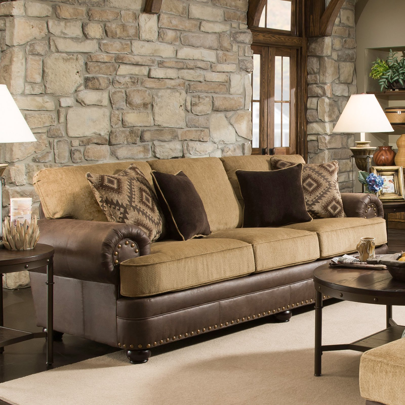 Simmons upholstery lattimer cocoa sofa walmart com