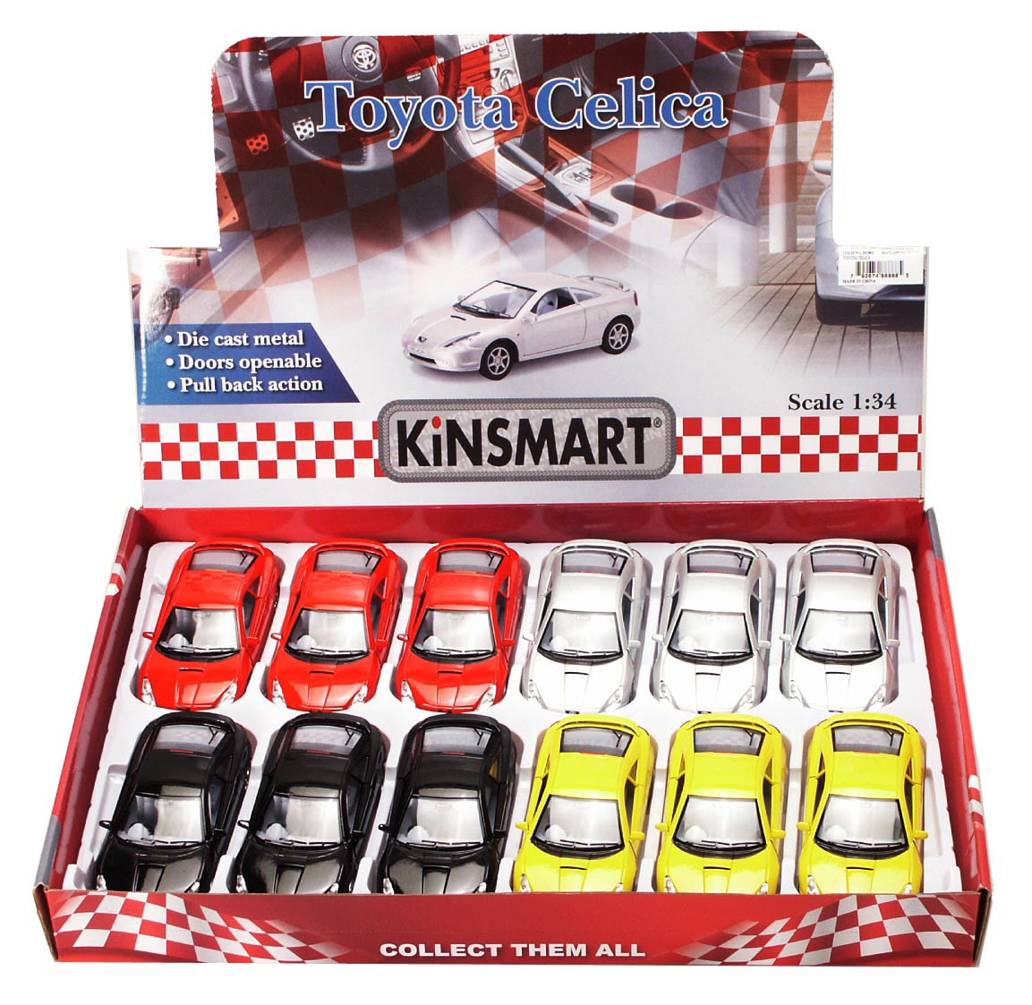 Toyota Celica Diecast Car Package Box Of 12 1 34 Scale Diecast