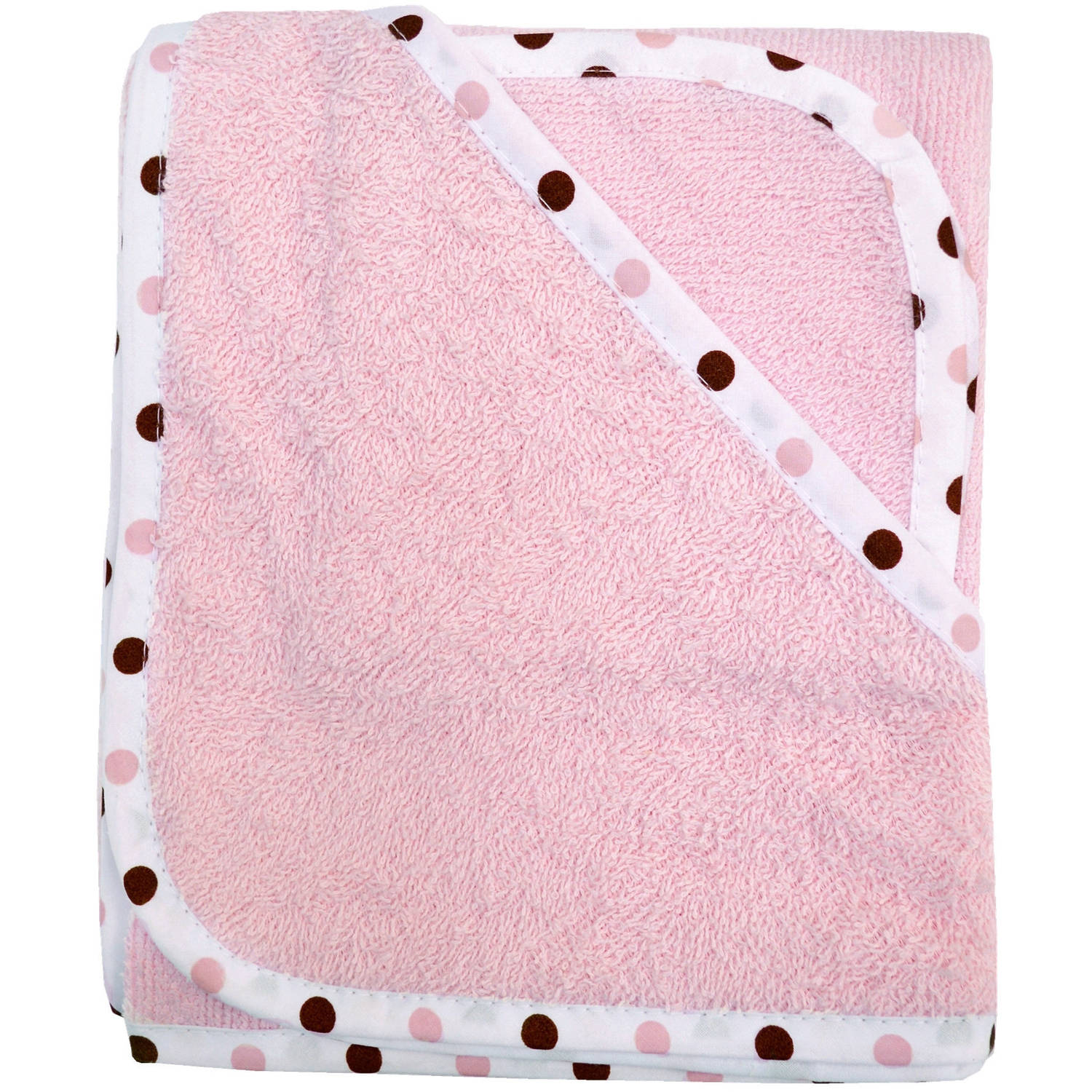 TL Care 100 Percent Organic Cotton Terry Hooded Towel Set, Pink