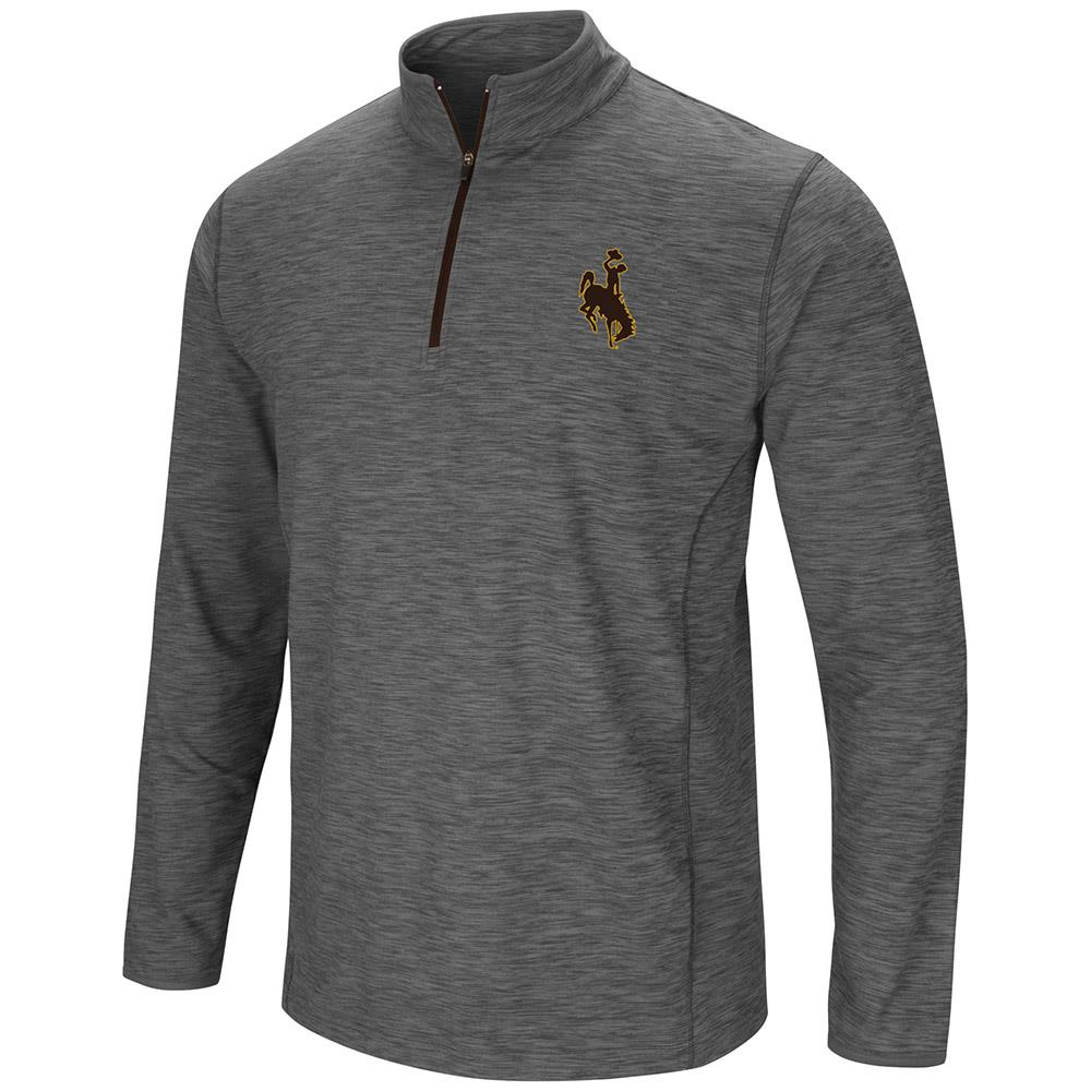 Mens NCAA Wyoming Cowboys Action Pass Long Sleeve Quarter Zip Wind Shirt
