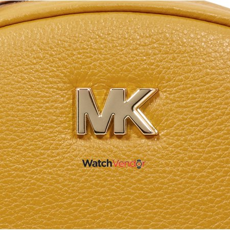 Michael Kors Ginny Pebbled Leather Half-Moon Crossbody Bag- Marigold -  image 4 of ... d3b9c08333799