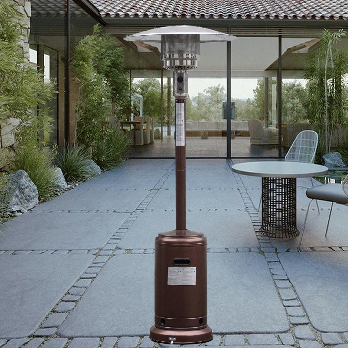 Garden Outdoor Patio Heater Propane Standing LP Gas Steel w/accessories New Bronze