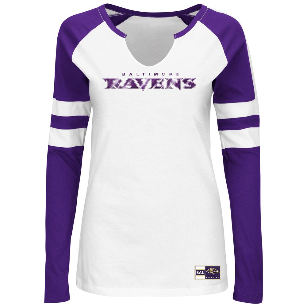 Majestic Baltimore Ravens Ladies Long Sleeve Tee