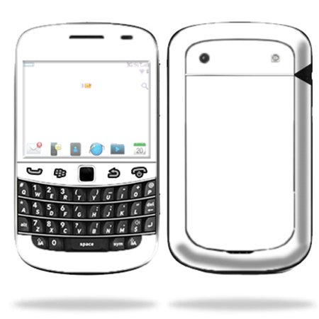 Mightyskins Protective Skin Decal Cover for Blackberry Bold 9900 or 9930 Cell Phone wrap sticker skins Solid White (Solid Smooth Berry)