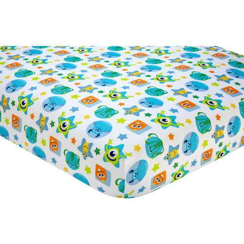 Disney Monsters On the Go Crib Sheet