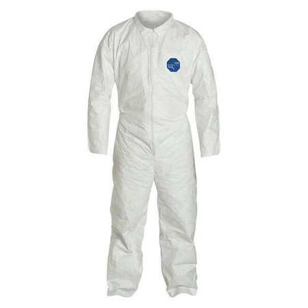 DUPONT TY120SWH3X0025NF Collared Disposable Coveralls, 3XL, PK (Dupont Proshield 1 Coveralls)
