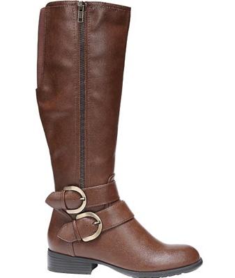 lifestride women's x-must wc riding boot, cognac, 9 w us