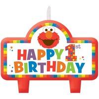 Elmo Turns One Birthday Candle Set