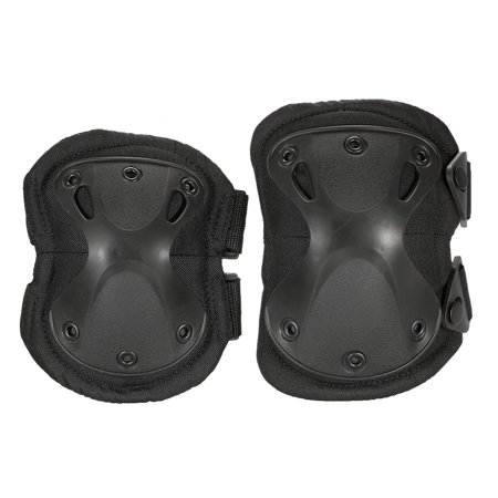 Lixada 4PCS Heavy Duty Outdoor Advanced Protective Pad Set with Knee Pads and Elbow Pads for Paintball Airsoft Adjustable Skate Knee Elbow