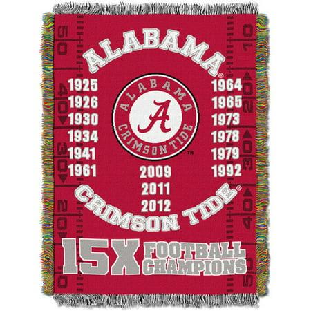 "NCAA 48"" x 60"" Commemorative Series Tapestry Throw, Alabama"