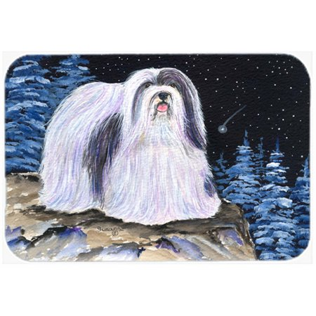 Caroline's Treasures Starry Night Havanese Kitchen/Bath Mat
