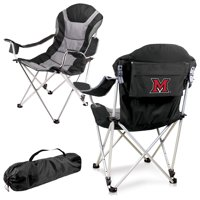 Miami University RedHawks Reclining Camp Chair - Black - No Size