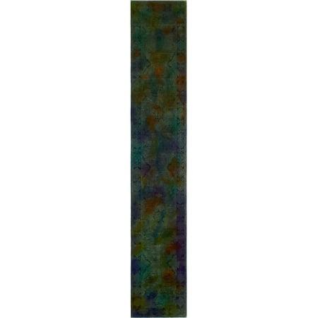 Overdyed Atenaida Blue/Purple Runner, 2'8