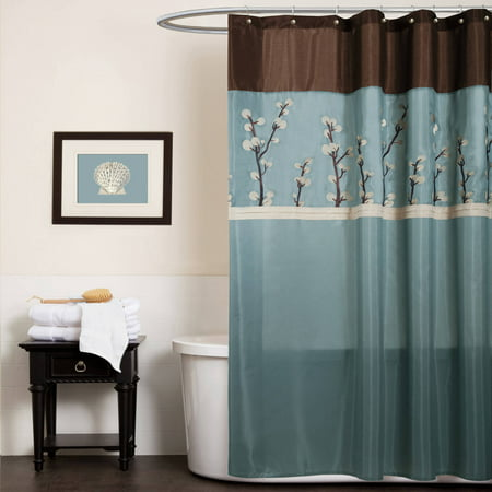 (Cocoa Flower Shower Curtain)