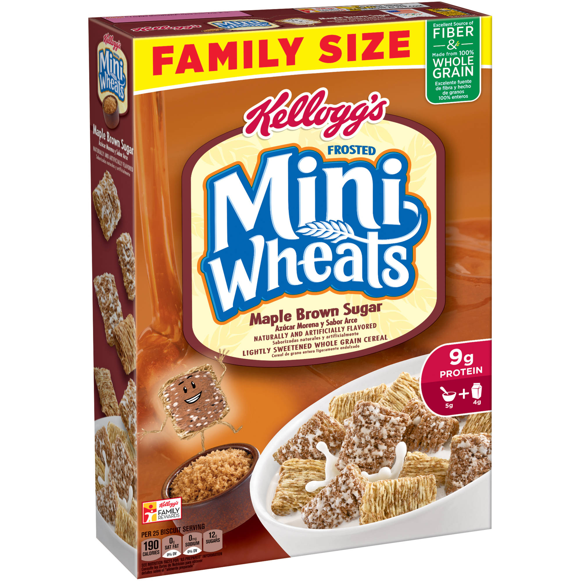 Kellogg's Frosted Mini-Wheats Maple Brown Sugar Cereal, 21 oz
