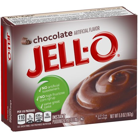 (5 Pack) Jell-O Instant Chocolate Pudding & Pie Filling 5.9 oz Box - Instant Chocolate Pudding