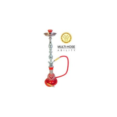 "VAPOR HOOKAHS TIGER 28"" COMPLETE HOOKAH SET: Portable Modern Hookahs with multi hose capability from a Single Hose shisha pipe to 2 Hose, 3 Hose, or 4 Hose Narguile pipes"