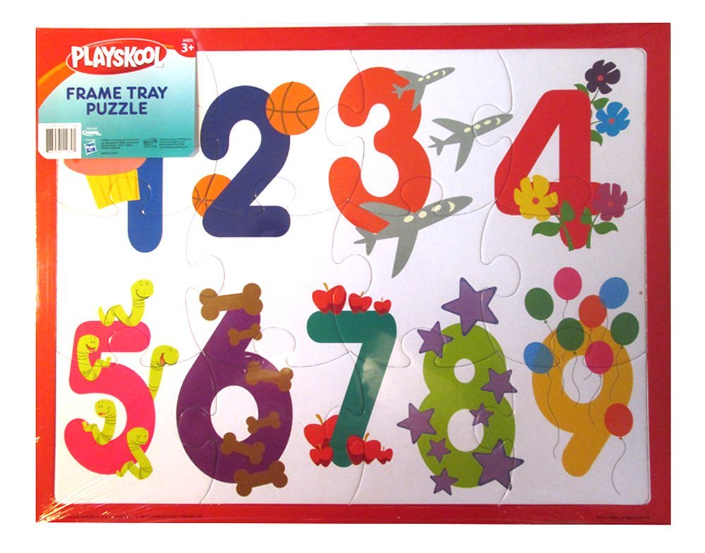 """14"""" x 11"""" 12 Piece Number Puzzle With Frame Tray Great Gift!, Includes: (1) 12... by"""