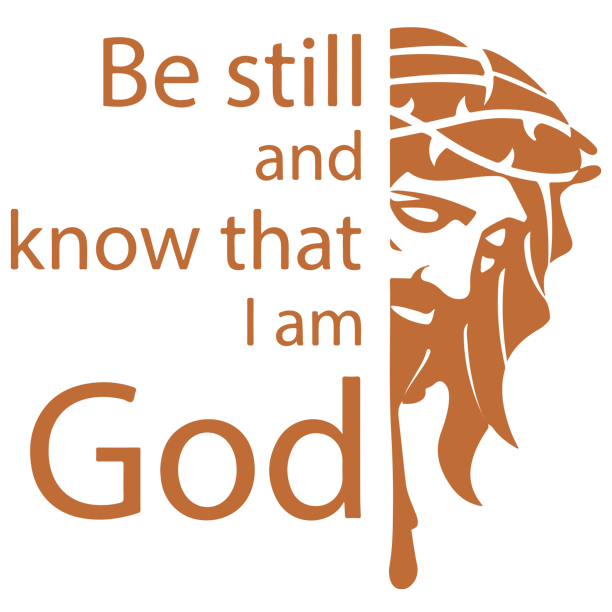 Be Still And Know That I Am God Vinyl Decal Sticker Quote Small Light Brown Walmart Com Walmart Com
