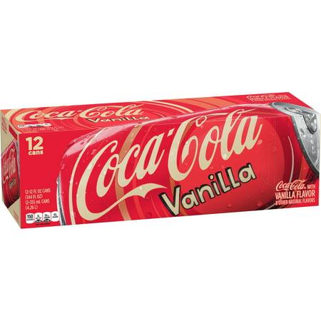 Coca Cola Soda  Vanilla  12 Fl Oz  12 Count